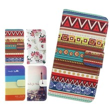 Hot New Products TPU Inside For Alcatel C3 Pattern Leather Wallet Mobile Phone Case
