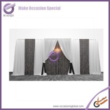 k4182 factory sequin fabric wedding stage backdrop decoration