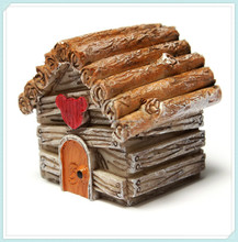 Craft decor resin villa grass house dollhouse fariy house miniature