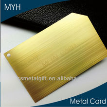 Classical brushed golden metal business card