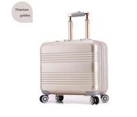 """18"""" Classic Aluminum Luggage Case Manufactures in Titanium Golden Aluminum Suitcase"""