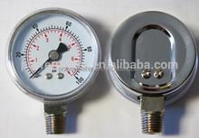 50mm nickelplated case bottom connection air pressure gauge manometer gas pressure gauge CE