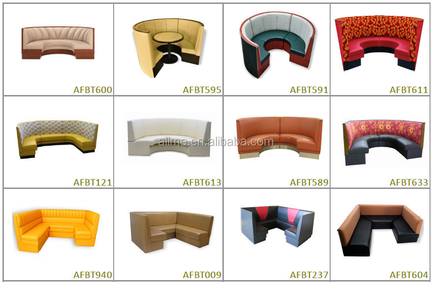 Alime High Back Sofa Booth Seating Round Restaurant Furniture