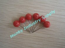Hot selling 6mmX17mm Chinese Red Orb Head Map Pin Push Pin