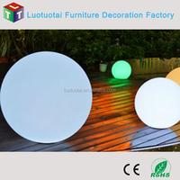40CM Waterproof cordless rechargeable Li battery operated PE swimming Pool Floating LED Ball Lighting LTT-B400