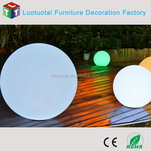 40CM Waterproof cordless rechargeable Li battery operated PE swimming Pool Floating LED Ball Lighting LTT-B400