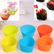 silicon colorful cup cake molds
