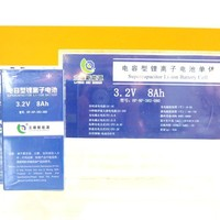 Rechargeable lithium ion battery CELL 8ah (supercapacitor li-ion battery) for solar street light