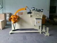 Haiwei manual decoiler type aluminum coil decoiler cum straightener for thickness 0.5-4.5mm(GL-400)