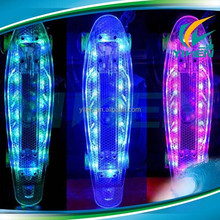 22 Inch pc penny crusier plastic LED SKATEBOARD WITH LIGHTS