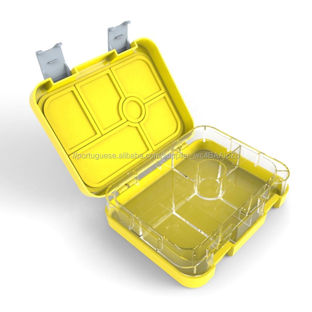 Amazon venda quente Pikachu cores plástico descartável refeição preparação Bento Lunch Box Para Crianças