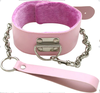 leather restraints, Sex Products fetish bondage sex toys For Couples, pink sex woman PVC leather collar