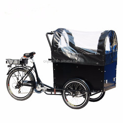 250w 3 Wheel Huge Cargo Box Tricycle with rain cover
