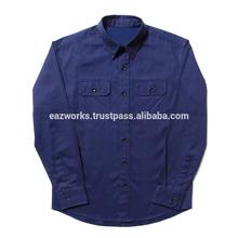 color personalizado de algodón camisa de trabajo
