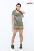 FreeArmy manufacturer Outdoor cotton black/white/yellow/green denim shorts for girls