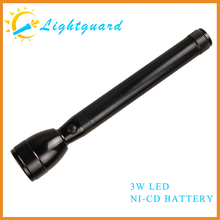 GWS-ME Factory supply waterproof long range aluminum power rechargeable hand-held bailong safety led torch light