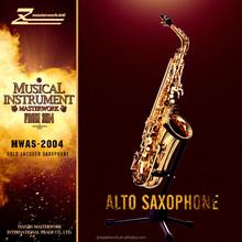 Alto saxophone with gold lacquer WMAS-2004