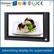 FlintStone 7 inch commercial use auto loop play lcd advertisement monitor, pos video screen usb update