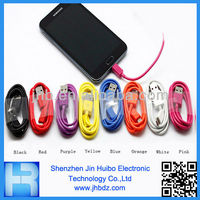 Colorful Universal Micro Data Cable/V8 USB Cable for Smartphone By Jin Huibo