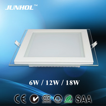 2013 slim glass led ceiling panel light 6W exported to Turkey