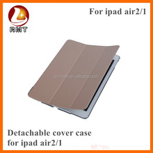 Packaging can be customized PU leather case for ipad2 with multi-angle stand