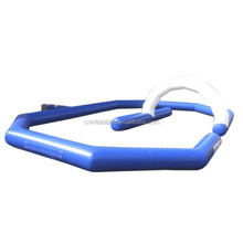 cheap and high quality inflatable race track, inflatable blue&white race track