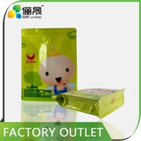 Alibaba express customized flat bottom side gusset plastic packaging bag for food