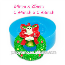JYL090 CHRISTMAS JINGLE BELL Flexible Silicone Push Mold for Polymer Clay, Resin,Wax, Miniature Food, Sweets, Plaster 25mm