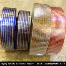 High Quality gold and silver transparent speaker cable wire