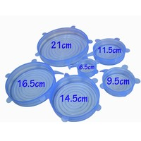 FDA Approved 6 Pack Set silicone stretch bowl cover