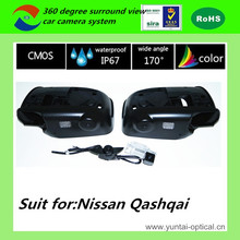 Perfect match with car DVD player HD night vision 360 around vision view camera for NISSAN Qashqai