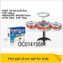 caliente 2014 tambores de plástico conjuntos de música instrumental para niños juguetes oc0141568