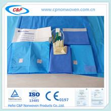 2015 paquete quirúrgico para el parto,La esterilización con óxido de etileno,manuacturer en China