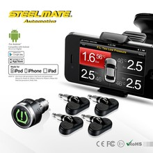 2015 Steelmate TPMS-85 car wireless DIY tire pressure monitoring system, tpms for android phone iPhone