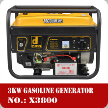 2015 best choice 3kw gasoline generator 8.3A DC output 3kw air-cooled gasoline generator set series