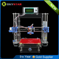 Prusa i3 3D printing machine/parts kit transparent acrylic desk top printer