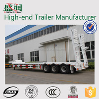 High quality 3 axle semi trailer/low bed semi trailer/lowboy truck trailer for hot sale