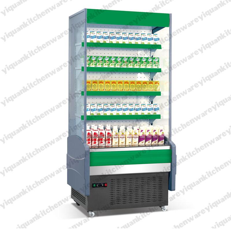 Supermarket Front Open Display Refrigerator With Air Curtain View Open Display Refrigerator
