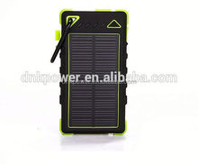 battery charger dual usb portable solar power bank Waterproof solar power bank charger