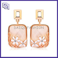 Cute Girl Resin Human Ear Model,Hot Pink One Gram Gold Earrings Designs Jewelry For Wedding