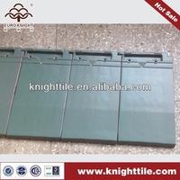 green interlocking flat clay roof tiles