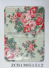 hot sale beautiful flower leather travel set ipad case