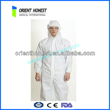 High Quality Disposable White Safety Coverall for Food Factory