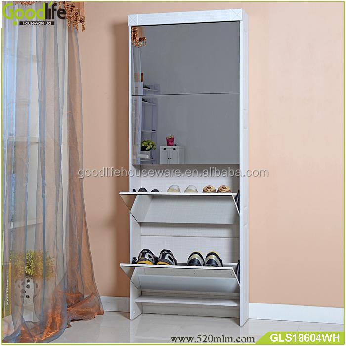 GLS18604mirror shoe cabinet-3