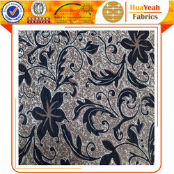 Black chenille jacquard upholstery chenille tapestry fabric in turkey