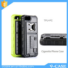 The newest fashion phone case , China Cigarette lighter phone case with beer opener for iphone 5s