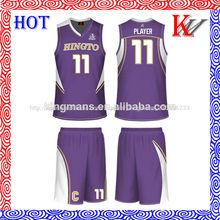 mini baloncesto conjunto de alta calidad uniforme del baloncesto conjunto