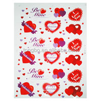 Top Grade love heart Static Sticker