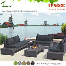 TG15-0041 Black color plastic rattan new fashion sofa
