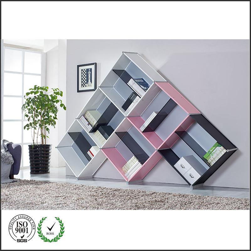 2015 latest design modern european style diy waterproof for Diy modular bookcase
